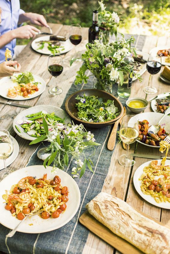 Good Summer Dinners  SUMMER DINNER PARTY great menu and table
