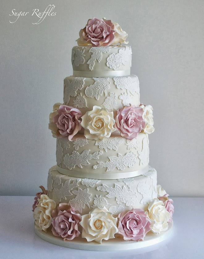 Gorgeous Wedding Cakes  Gorgeous Lace Wedding Cakes Belle The Magazine
