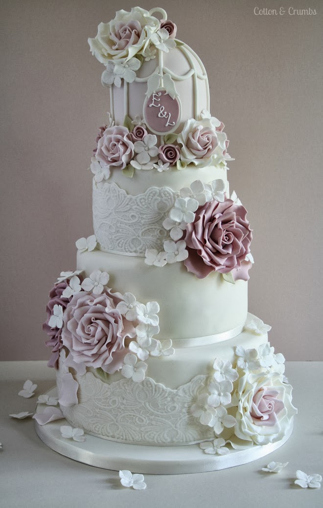 Gorgeous Wedding Cakes  Bison Bantaran Gorgeous Lace Wedding Cakes
