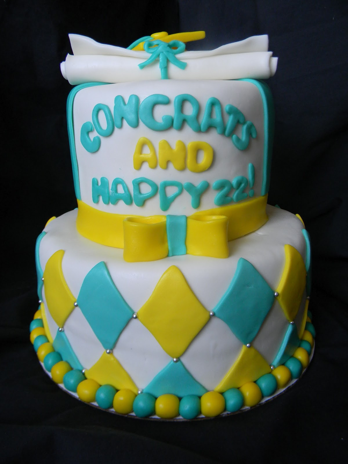Graduation And Birthday Cake  Jesicakes Graduation Birthday Cake