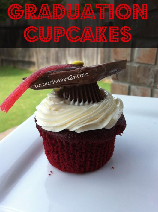 Graduation Cap Cupcakes  Chocolate Graduation Cap Pops iSaveA2Z