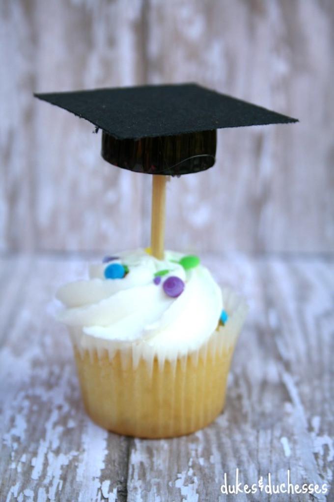 Graduation Cap Cupcakes  10 Fabulous & Free Graduation Printables Design Dazzle