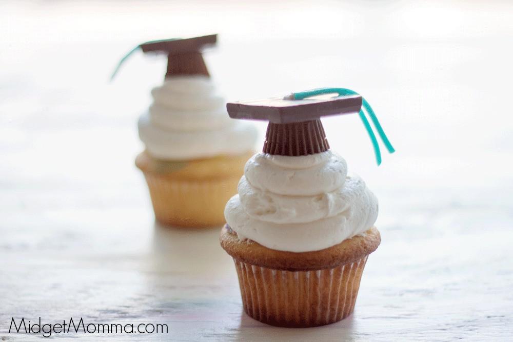 Graduation Cap Cupcakes  Easy Graduation Cap Cupcakes • Mid Momma