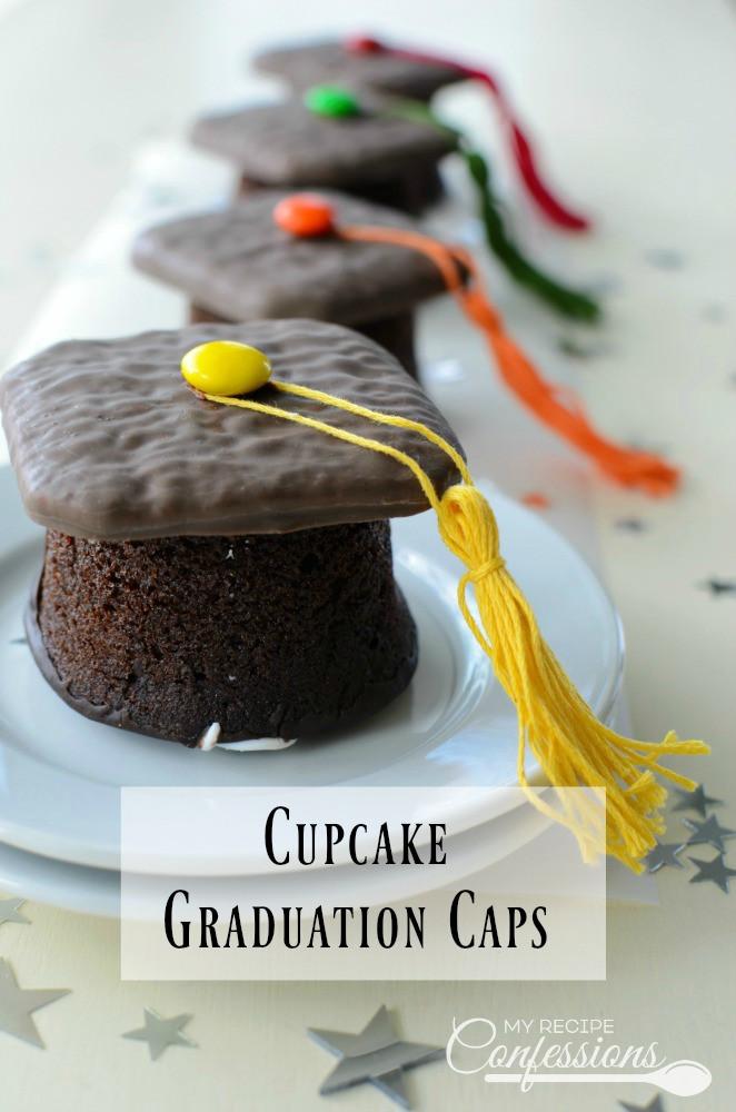 Graduation Cap Desserts  Cupcake Graduation Caps My Recipe Confessions