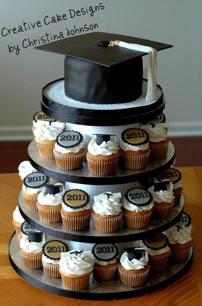 Graduation Cupcakes Ideas  Graduation Cupcake Tower
