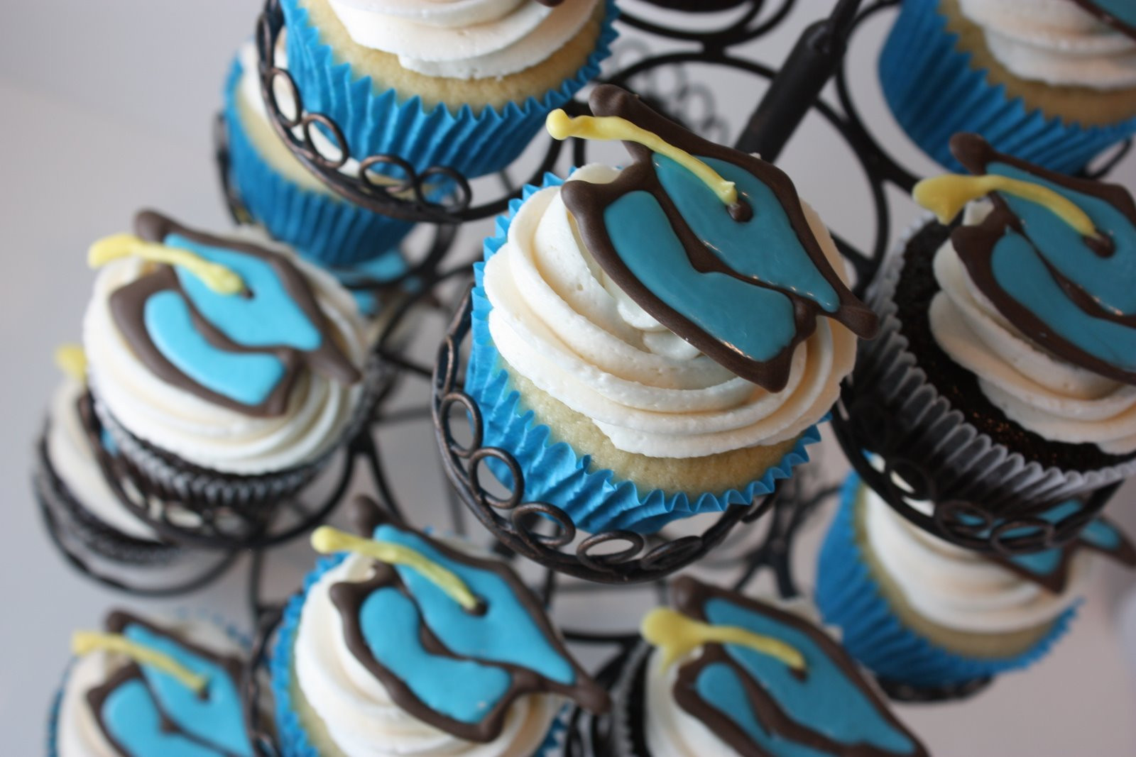 Graduation Cupcakes Ideas  The Full Time Wife Graduation Cupcake Ideas