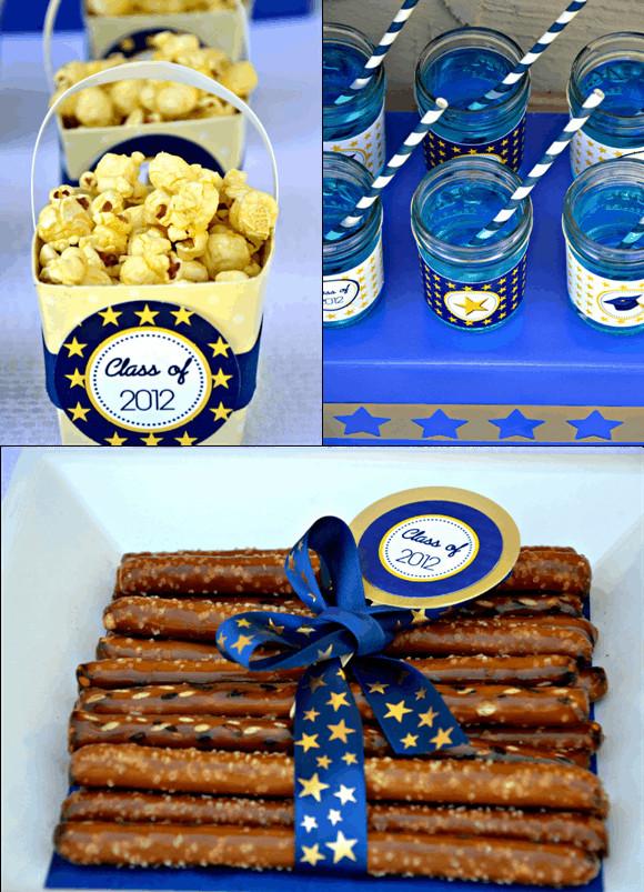 Graduation Dessert Ideas  Kara s Party Ideas Graduation Party FREE Printables