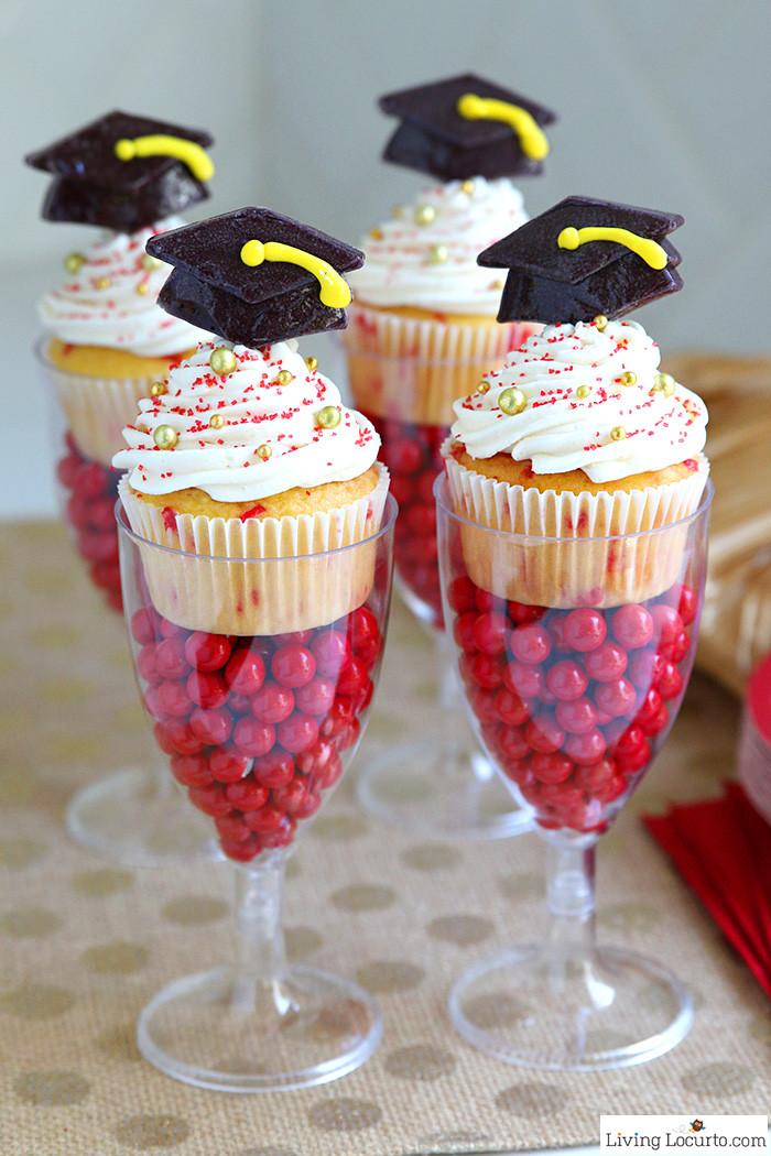 Graduation Dessert Ideas  Funfetti Graduation Cupcakes