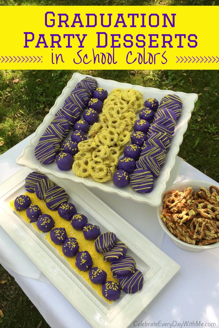 Graduation Dessert Ideas  Graduation Party Desserts in School Colors Celebrate