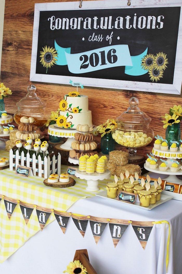 Graduation Dessert Table Ideas  Kara s Party Ideas Country Fair Graduation Party