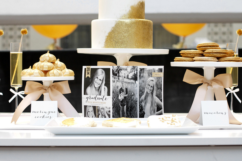 Graduation Dessert Table  Sparkling Senior Graduation Party with Shutterfly — Kristi