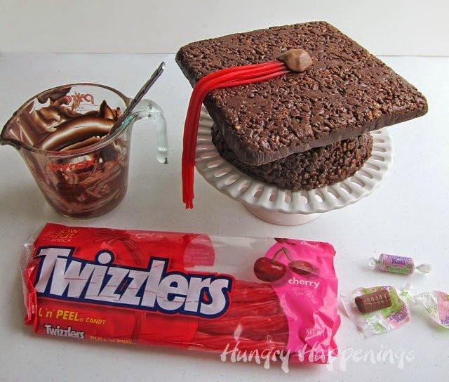 Graduation Desserts And Treats  Cocoa Krispies Treat Graduation Cap Fun graduation party