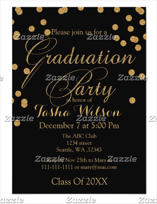 Graduation Dinner Invitation  34 Sample Invitation Templates PSD AI
