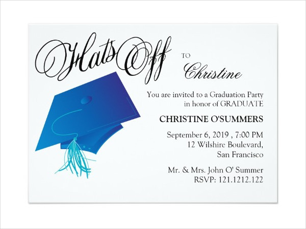 Graduation Dinner Invitation  8 Graduation Party Invitation Designs & Templates PSD