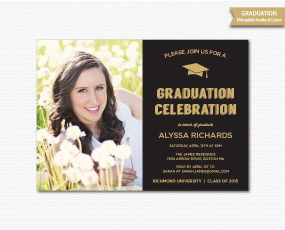 Graduation Dinner Invitation  Graduation Invitation Grad Announcement Graduation Party