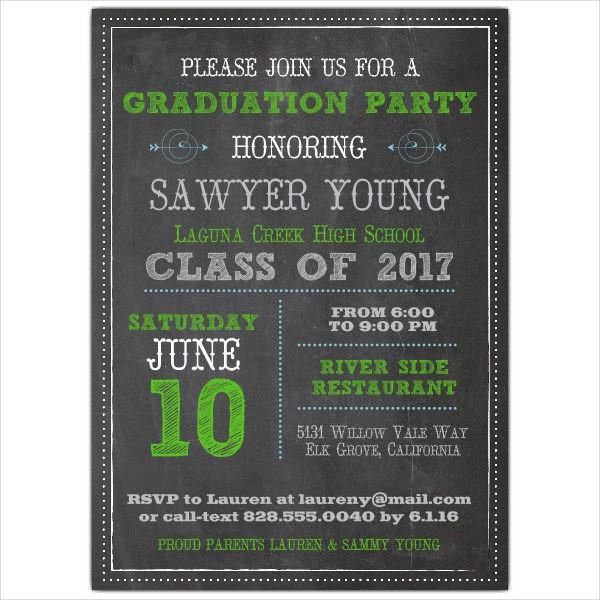 Graduation Dinner Invitation  39 Printable Graduation Invitations