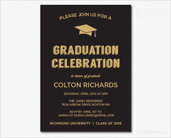 Graduation Dinner Invitations  45 Graduation Invitation Designs & Templates PSD AI