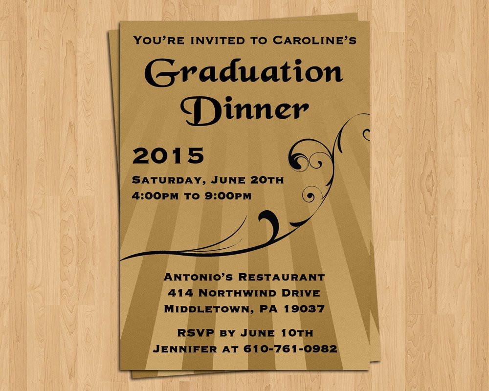 Graduation Dinner Invitations  Graduation Invitation Dinner Invite Special by LifePlusTwo