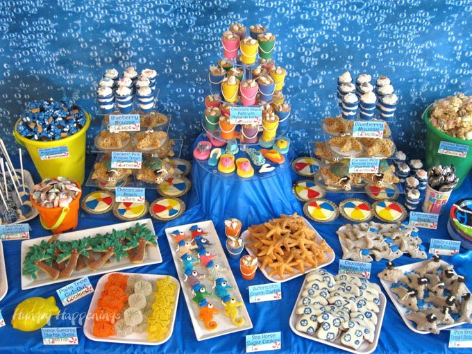Graduation Party Desserts  Beach Themed Party Ideas & Under the Sea Desserts