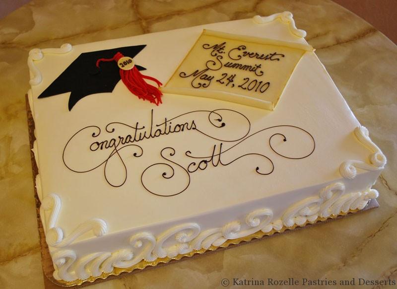 Graduation Sheet Cake  Katrina Rozelle Pastries & Desserts