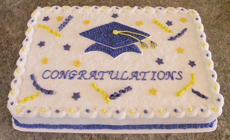 Graduation Sheet Cake Ideas  Simple Graduation Sheet Cake Ideas