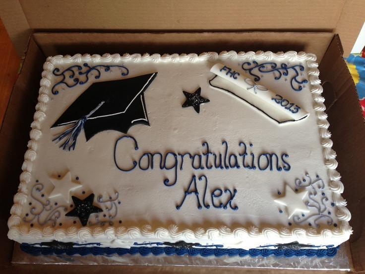 Graduation Sheet Cake Ideas  Graduation full sheet cake with strawberry filling