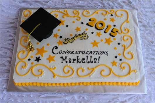 Graduation Sheet Cake Ideas  Yellow & Black Graduation Cake