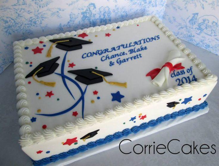 Graduation Sheet Cake Ideas  25 best ideas about Graduation Cake on Pinterest