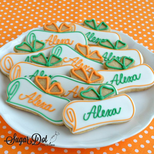 Graduation Sugar Cookies  Diplomas with the graduate s name Perfect cookie design