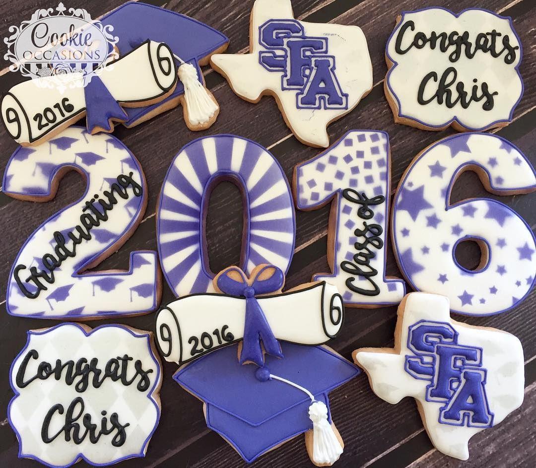Graduation Sugar Cookies  Congratulations SFA Graduate sugarcookies