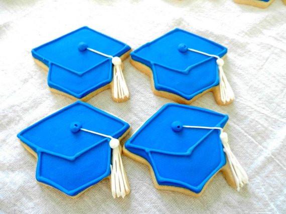 Graduation Sugar Cookies  Graduation cap Mortarboard Decorated sugar cookies 2394