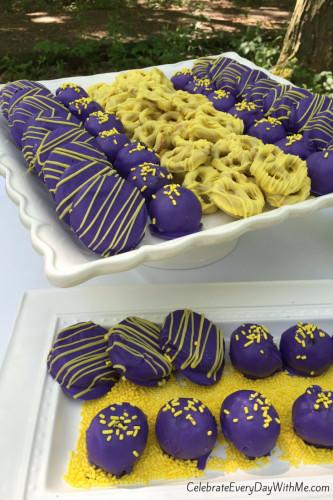 Graduation Themed Desserts  Graduation Party Desserts in School Colors