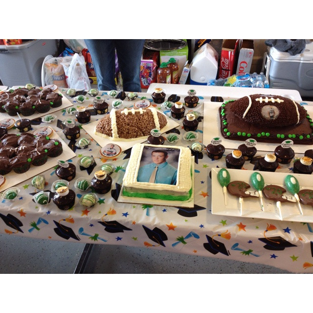 Graduation Themed Desserts  80 best images about Sports Theme Graduation Party on