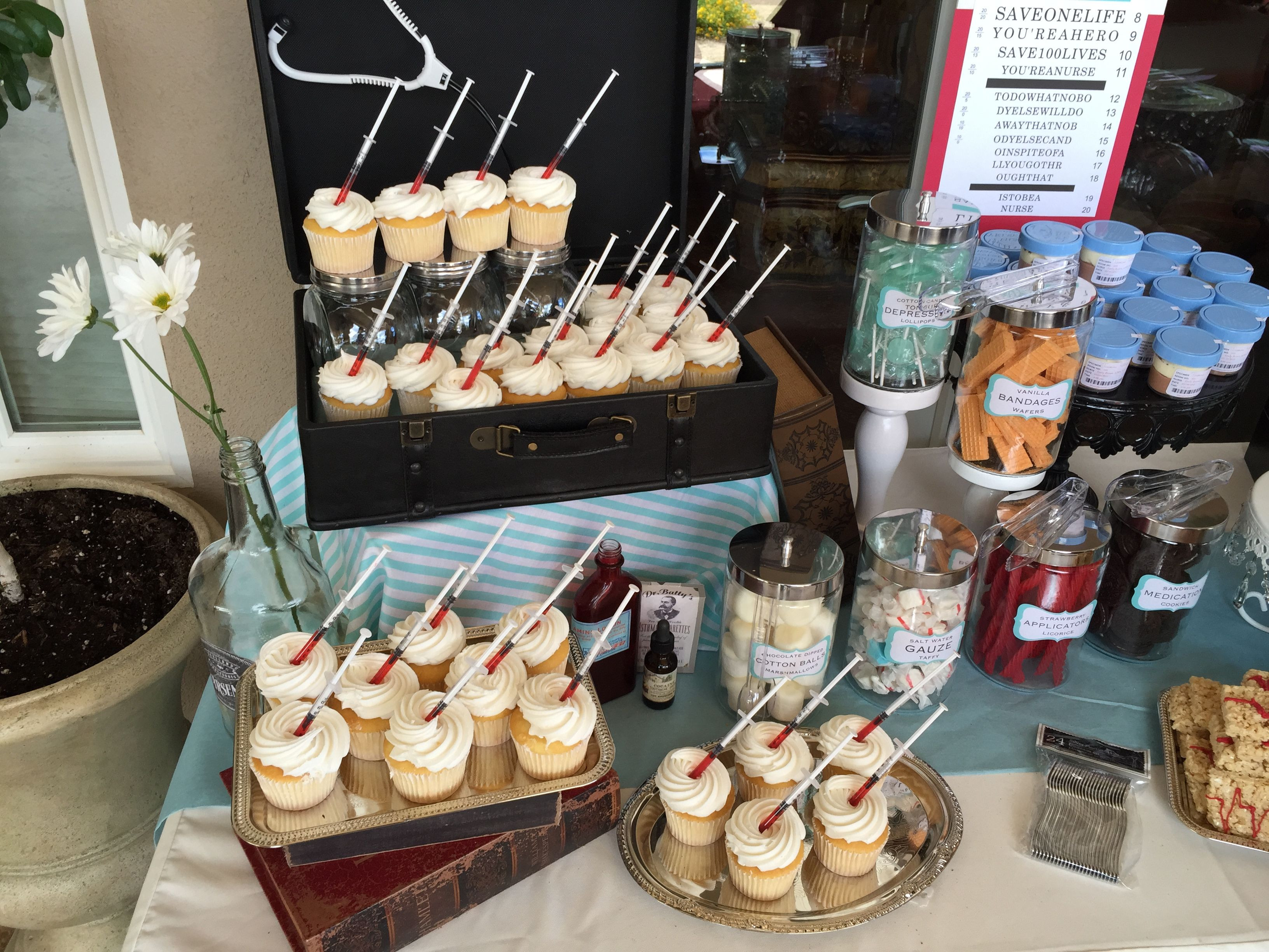 Graduation Themed Desserts  Nurse Practitioner Graduation Party Dessert Table