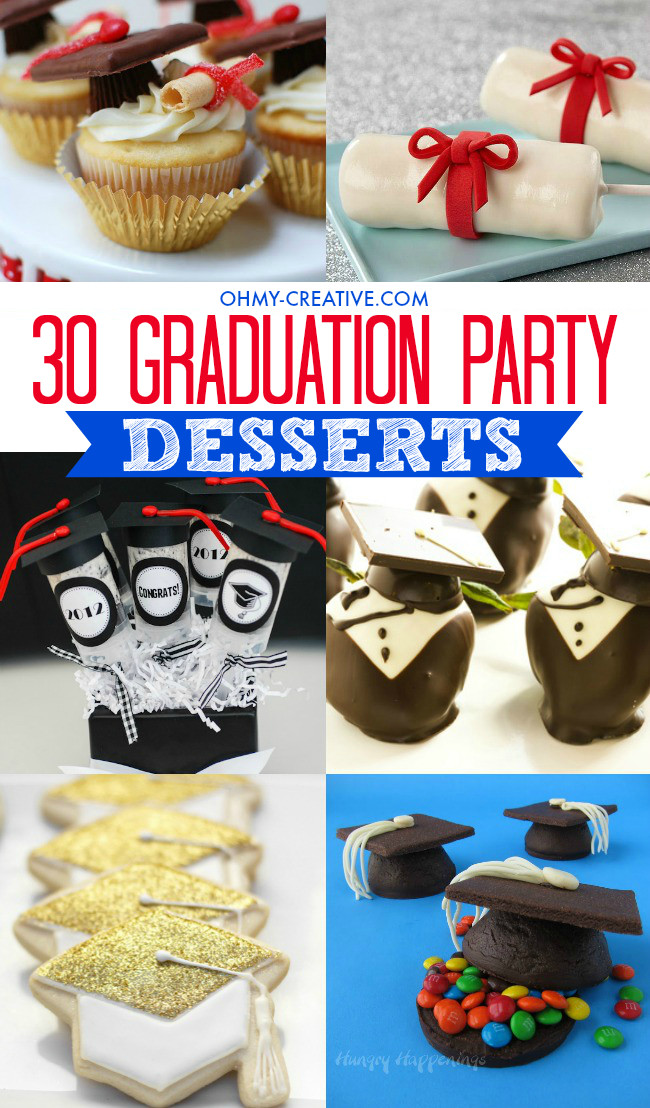 Graduation Themed Desserts  25 Graduation Party Themes Ideas and Printables