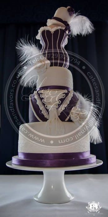 Great Gatsby Wedding Cakes  Great Gatsby inspired wedding cake Cake by Cakes and