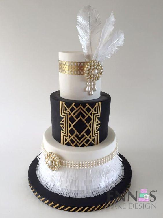 Great Gatsby Wedding Cakes  Great Gatsby Cake by Irina Ennas Cake Design