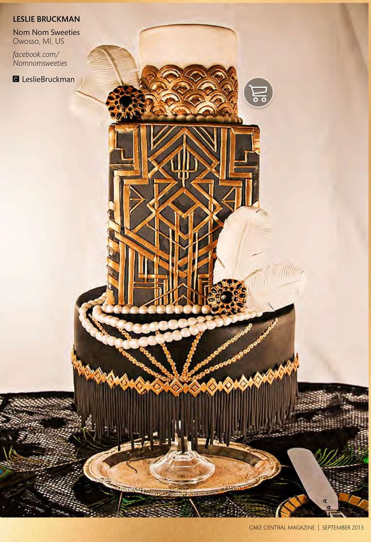 Great Gatsby Wedding Cakes  35 best Great Gatsby Cakes images on Pinterest