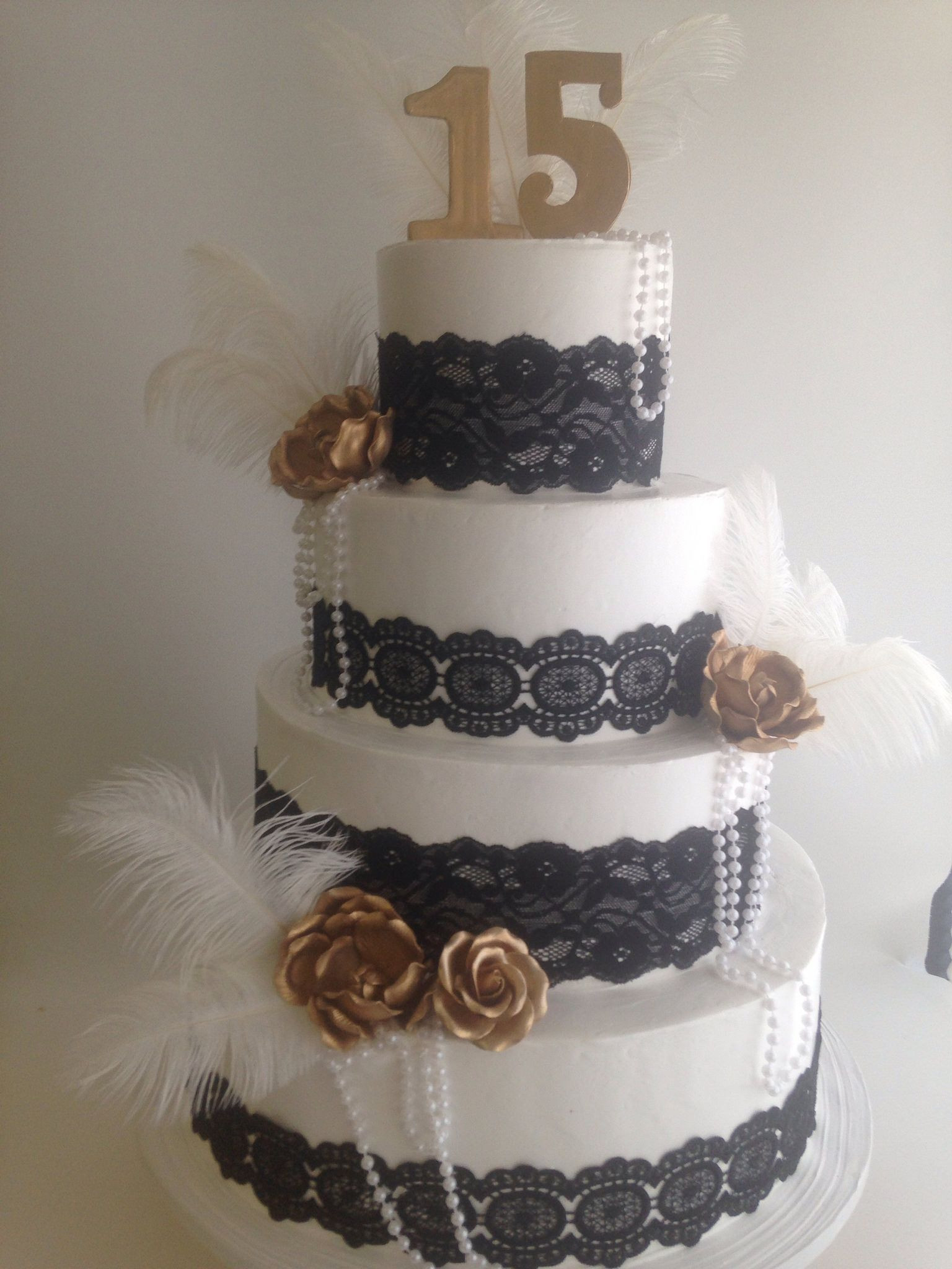 Great Gatsby Wedding Cakes  Great Gatsby themed cake 3762