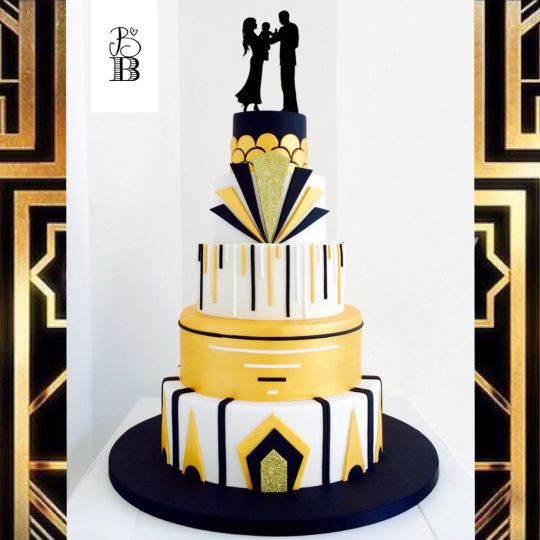 Great Gatsby Wedding Cakes  Great Gatsby wedding cake cake by Bella s Bakery