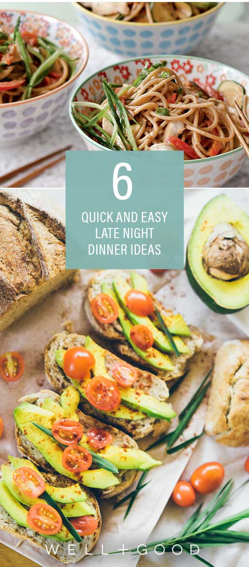 Great Healthy Dinners  6 late night dinner ideas from healthy foo s