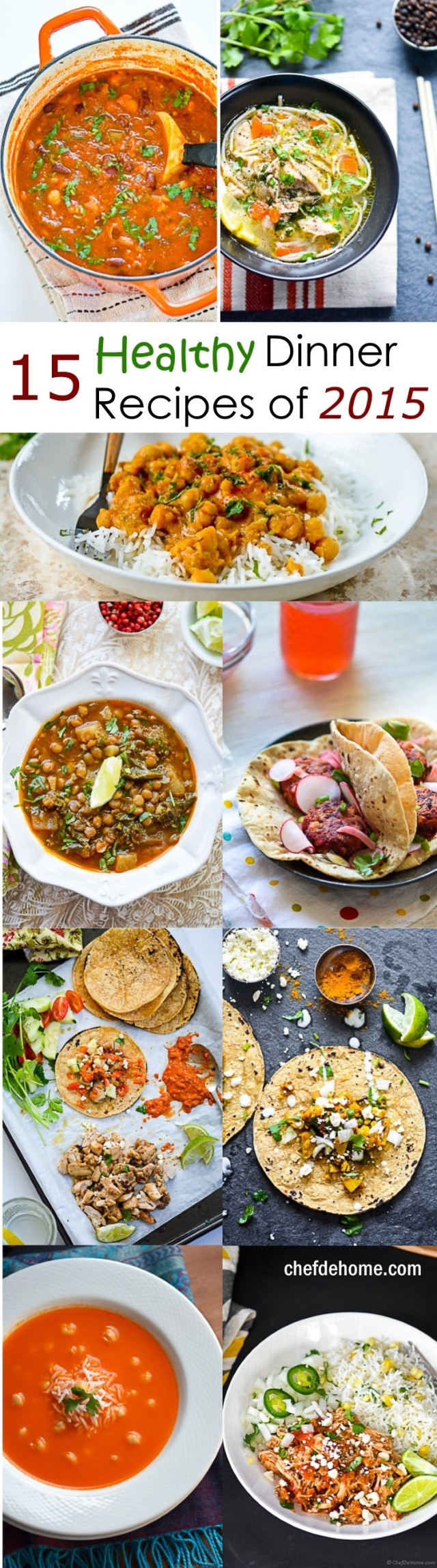 Great Healthy Dinners  15 Top Healthy Dinner Recipes for New Year Meals