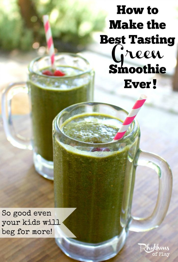 Great Tasting Healthy Smoothies  How to Make the Best Tasting Green Smoothie Ever