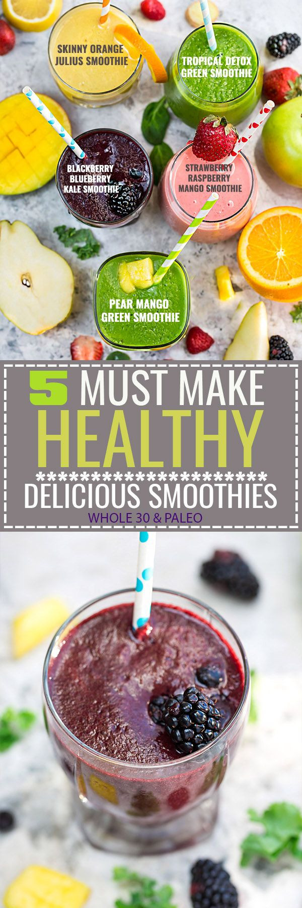 Great Tasting Healthy Smoothies  5 of the BEST tasting and Easy to make Healthy Detox