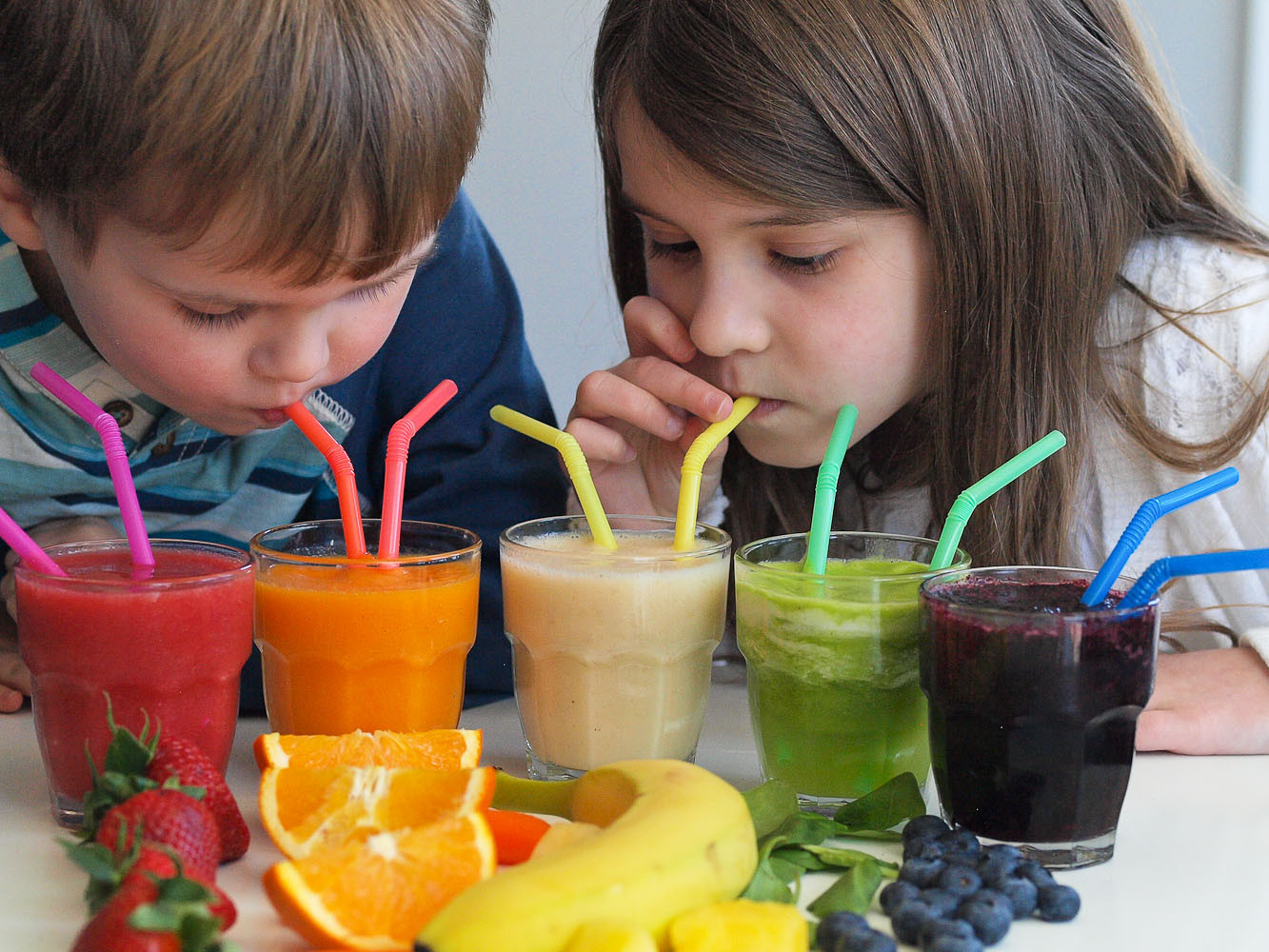 Great Tasting Healthy Smoothies  Rainbow Smoothies A Tasting Activity for Kids Happy