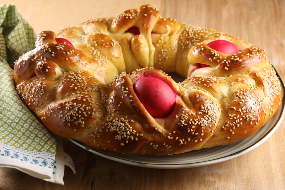 Greek Easter Bread  Lambropsomo Greek Easter Bread