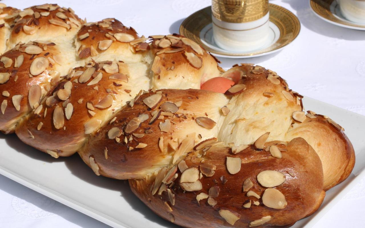 Greek Easter Desserts  Greek Easter Bread Tsoureki Recipe Chowhound
