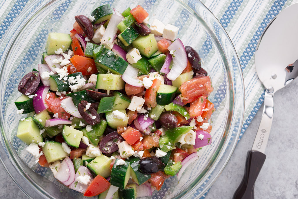 Greek Side Dishes Healthy  A Light Summer Side Greek Cucumber and Tomato Salad