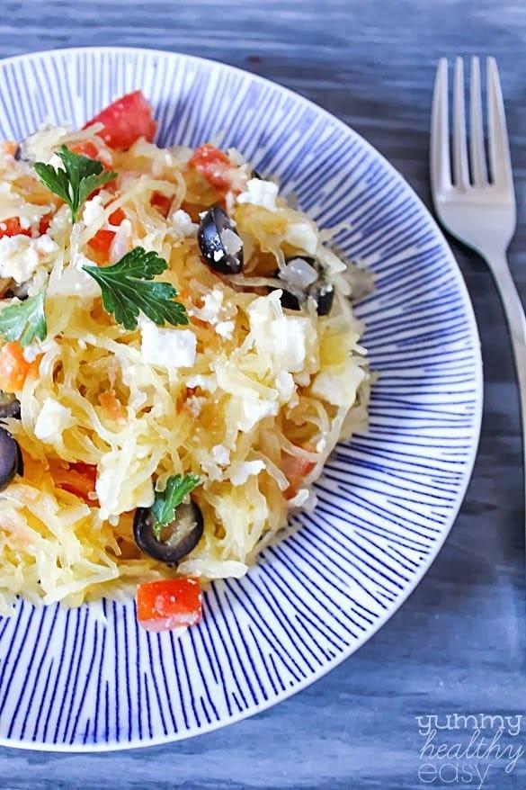 Greek Side Dishes Healthy  Greek Style Spaghetti Squash Yummy Healthy Easy