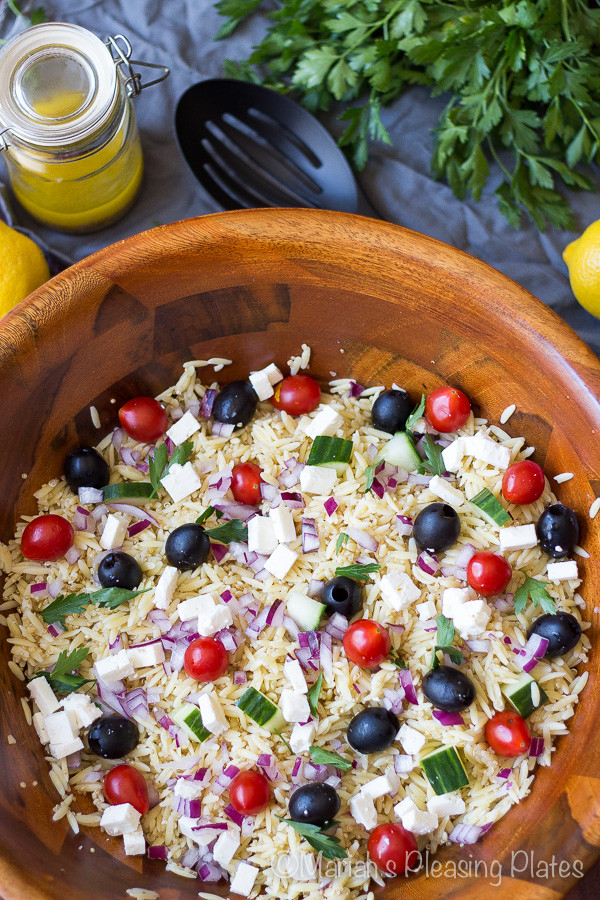 Greek Side Dishes Healthy  Simple Greek Orzo and Quinoa Salad with Lemon Vinaigrette